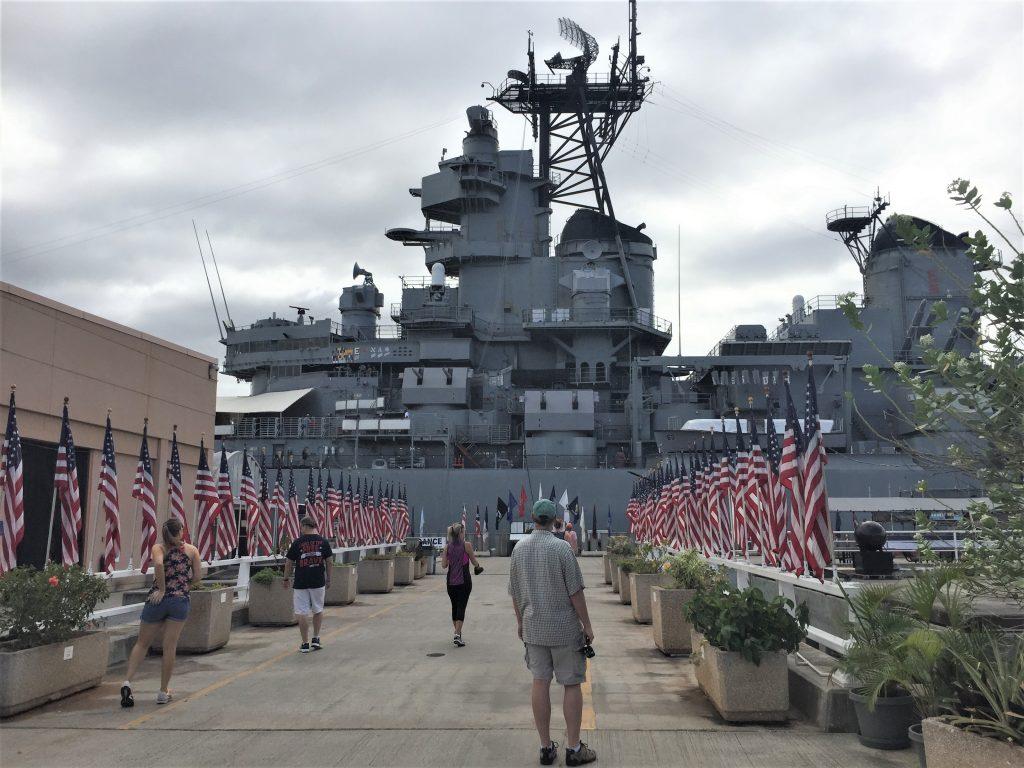 Battleship USS Missouri, Pearl Harbor, Hawaii (Photo: Sarah Sundin, 7 Nov 2016)