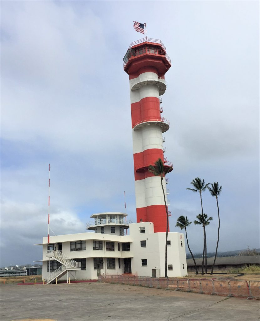 Control tower on Ford Island, Pearl Harbor, Hawaii at the Pacific Aviation Museum (Photo: Sarah Sundin, 7 Nov 2016)