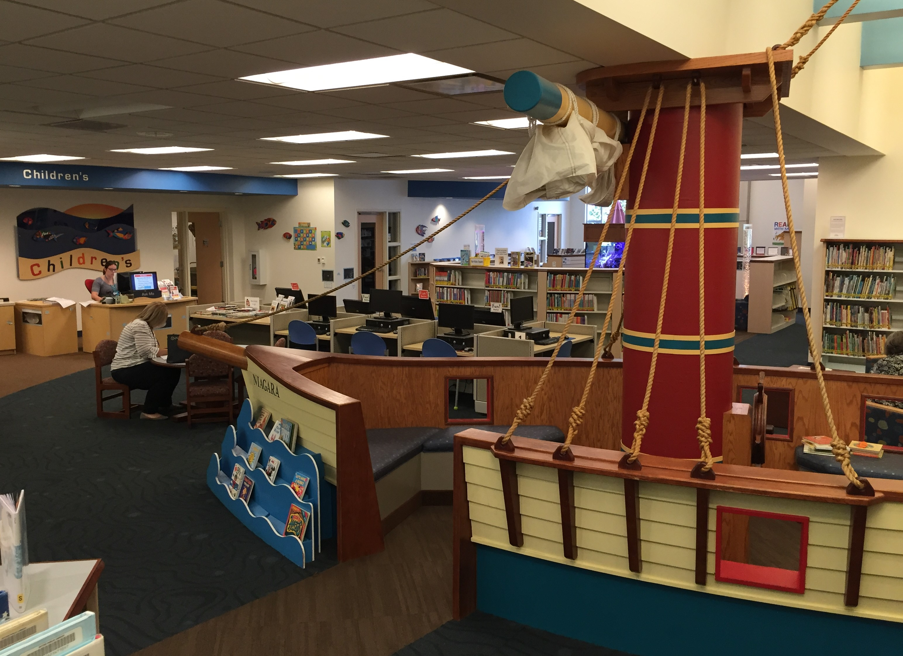 Ritter Public Library, Vermilion, Ohio (Photo: Sarah Sundin, August 2016)