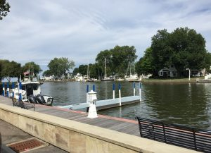 The Vermilion River, Vermilion, Ohio (photo: Sarah Sundin, August 2016)